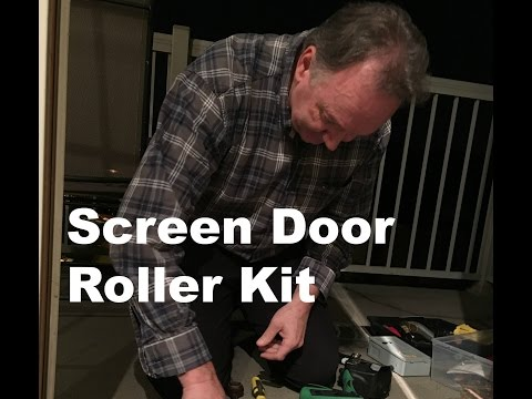 Sliding Screen door roller kit 90020 Installation instructions - Make your screen door slide better