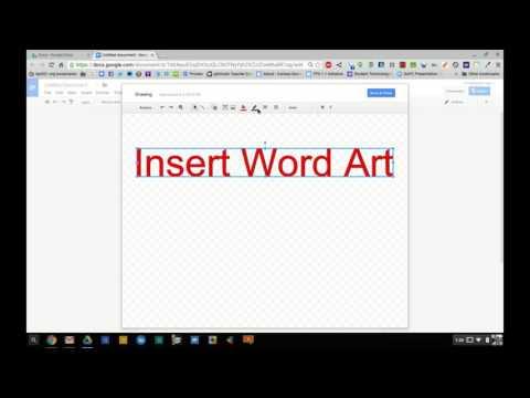 Google Docs - Insert Word Art