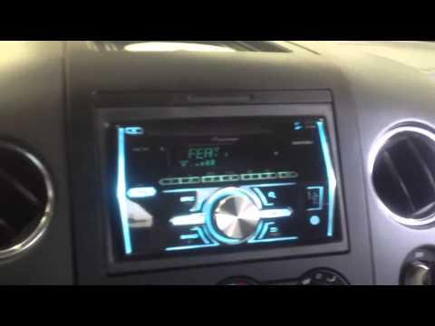 Ford F-150 2013 Pioneer FH-X700bt double din Bluetooth iPod Receiver AL & EDS AUTOSOUND LA
