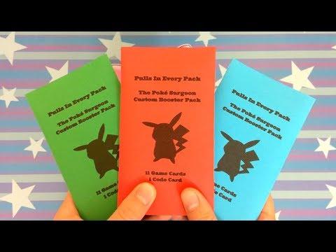 NEW SUPER RARE CUSTOM POKEMON BOOSTER PACKS! (PULL IN EVERY PACK)