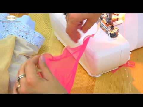Create an Extra Frilly Hem with your Serger!