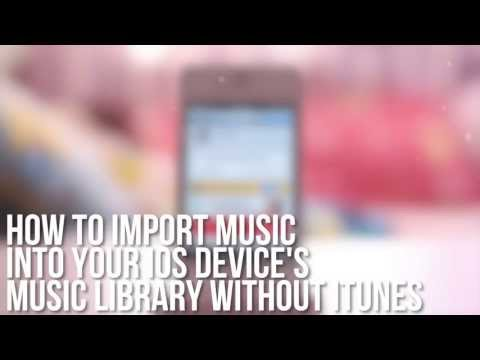 Import/Sync Music, Ringtones & Podcasts without a computer (iTunes) - iPhone, iPod Touch, iPad, iPad
