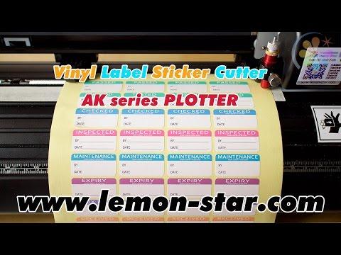 Sticker labels die cutting by AK vinyl cutter plotter