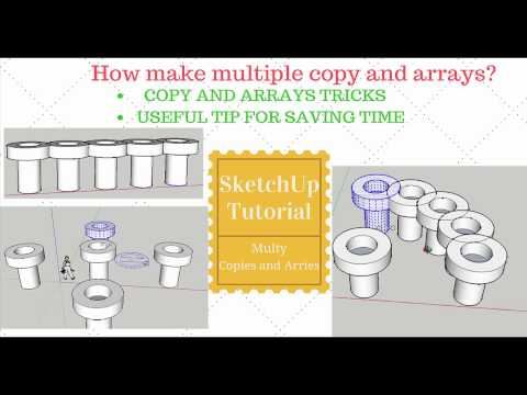 SketchUp Multiple Copies And Arrays ( 2 minutes tutorial)