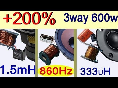 How to increase bass subwoofer. 3 Way Frequency Divider Speaker Crossover Filters for best sound