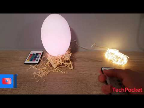 Cheap decoration items - (remote controlled) 3D Dinosaur Egg Lamp AND Christmas lights