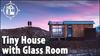 Download Tiny House with Glass Roof for Northern Lights in Iceland Video