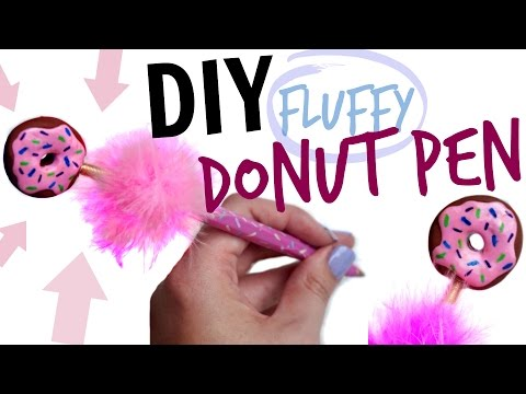 DIY FLUFFY DONUT PEN