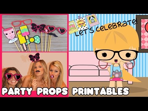 Shelly's Party Photo Booth Props DIY & Printables - by Tiniez