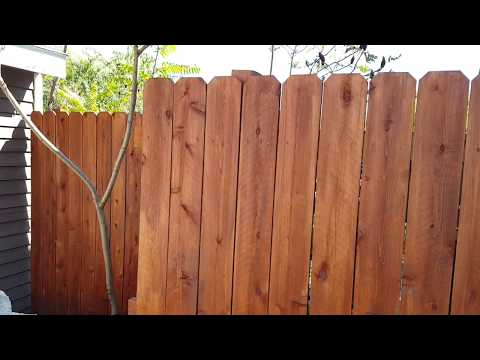 Olympic Elite Woodland Oil penetrating stain on Incense Cedar Fence