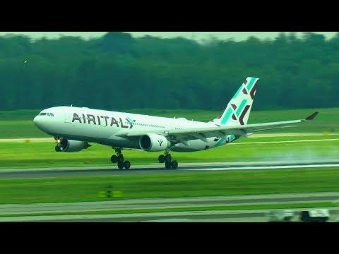 NEW! AIR ITALY Airbus A330-200 NEW LIVERY Landing at Milan Malpensa Airport | EI-GFX