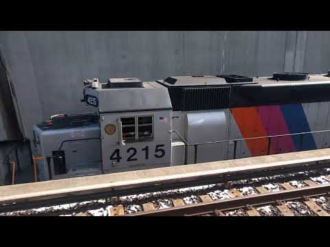 NJT #4215 in the Haddonfield Trench
