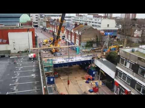 Southend on sea rail bridge replacement-Timelapse