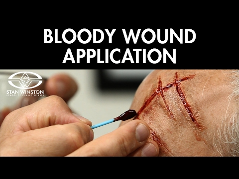 Wound Makeup Effects: Fake Blood Application - FREE CHAPTER