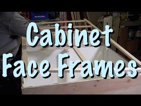 How to Make and Install Face Frames for a Kitchen Cabinet