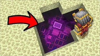 DISCOVERING A CITY UNDERNEATH THE END IN MINECRAFT !! Minecraft Mods