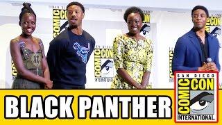 BLACK PANTHER Comic Con Panel - Chadwick Boseman, Lupita Nyong