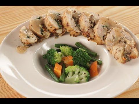 Chicken Roulade In Pepper Sauce | Sanjeev Kapoor Khazana