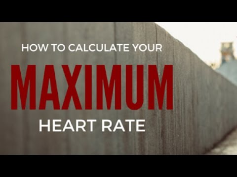 Heart rate training zones How to calculate maximum/target heart rate