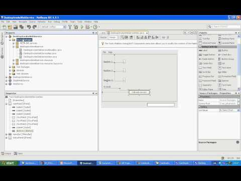 NetBeans Desktop Application Invoke Web Service