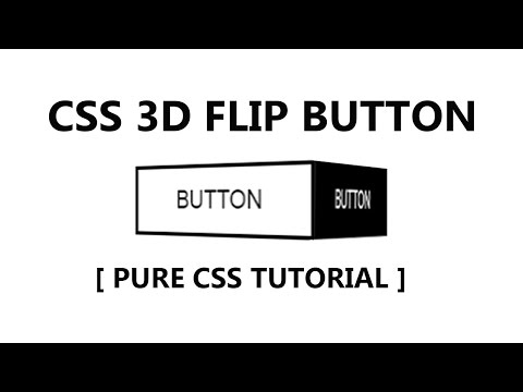 Css 3d Flip Button Hover Effect - Pure Css Tutorial