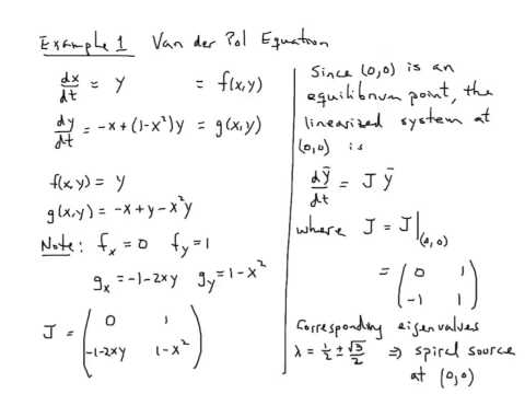 Using the Jacobean to Linearize at nonlinear system at an equilibrium point