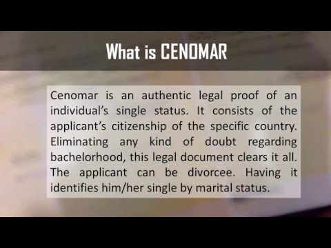 CENOMAR Certificate of No Marriage - Services 2 NRI