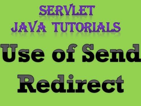 Servlet Java Tutorial Part 6 use of Send Redirect