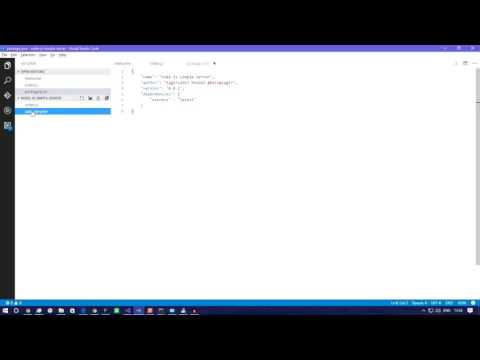 How to create a basic  Node js server