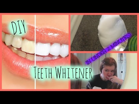 HOW TO WHITEN YOUR TEETH IN 2 MINUTES! // Super Easy DIY Teeth Whitener