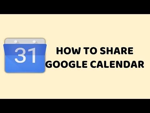 How To Share Google Calendar    Easy Tutorials In Hindi