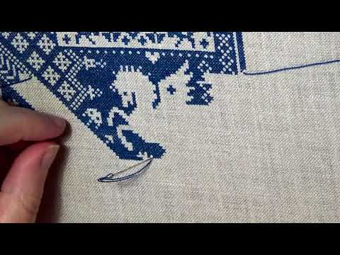 Flosstube: Stitch with me - Death by Cross-stitch