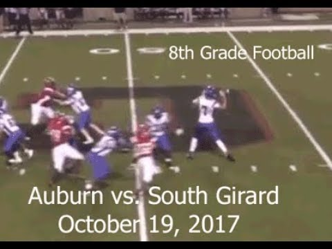Auburn 8th Grade Football vs. South Girard Summary - Oct 19, 2017