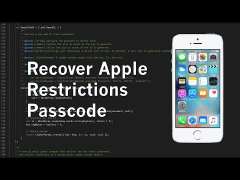 How to crack ipad restriction password -