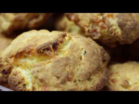 Cheddar, Chive and Lountza Scones