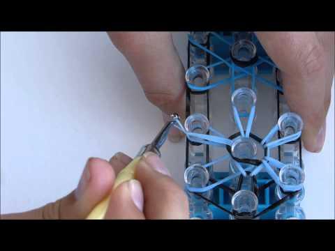 Loom Band Tutorial - Starburst Bracelet | Loomified