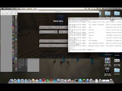 Mac - How to Use The Multiplayer Commands For Minecraft 1.2.5