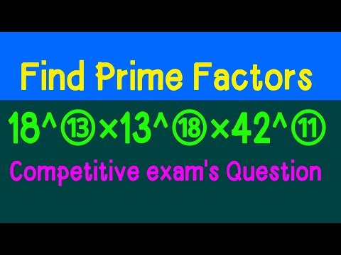 Tricks of finding prime factors (in Hindi) for ssc, bank, Railway exam