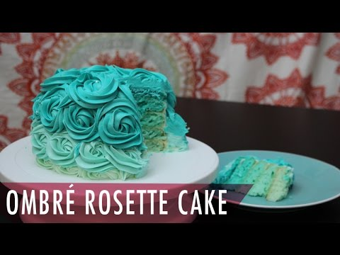 Ombre Rosette Cake & Homemade Buttercream Frosting Tutorial