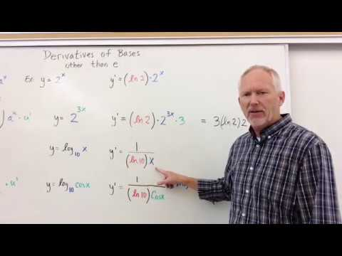 Derivative of Bases other than e