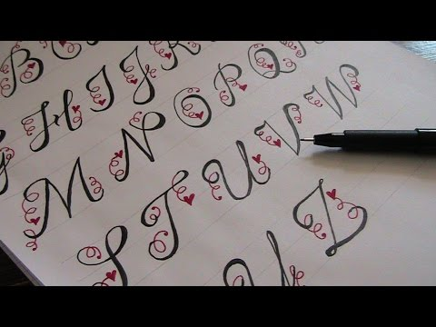 how to write in cursive - beautiful cursive fancy letters