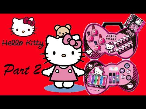 Hello Kitty Kids Beauty Box & Makeup Set Unboxing - Lip Gloss Part 2 !!!
