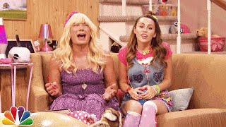 """Jimmy shows a clip from the Teen Nick show """"Ew!"""" in which Sara and her friend Becky do a Face Swap.  Subscribe NOW to The Tonight Show Starring Jimmy Fallon: http://bit.ly/1nwT1aN  Watch The Tonight Show Starring Jimmy Fallon Weeknights 11:35/10:35c Get more Jimmy Fallon:  Follow Jimmy: http://Twitter.com/JimmyFallon Like Jimmy: https://Facebook.com/JimmyFallon  Get more The Tonight Show Starring Jimmy Fallon:  Follow The Tonight Show: http://Twitter.com/FallonTonight Like The Tonight Show: https://Facebook.com/FallonTonight The Tonight Show Tumblr: http://fallontonight.tumblr.com/  Get more NBC:  NBC YouTube: http://bit.ly/1dM1qBH Like NBC: http://Facebook.com/NBC Follow NBC: http://Twitter.com/NBC NBC Tumblr: http://nbctv.tumblr.com/ NBC Google+: https://plus.google.com/+NBC/posts  The Tonight Show Starring Jimmy Fallon features hilarious highlights from the show including: comedy sketches, music parodies, celebrity interviews, ridiculous games, and, of course, Jimmy"""
