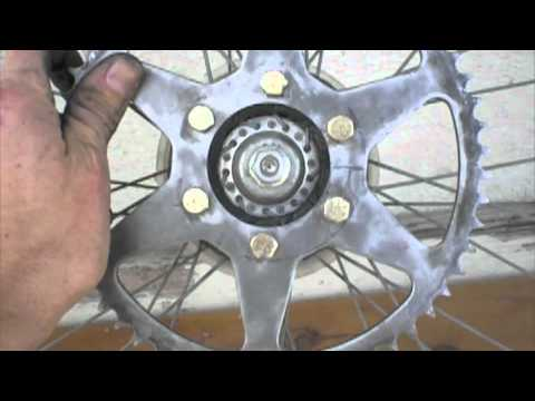 how to put a motorcycle sprocket on a bicycle rim