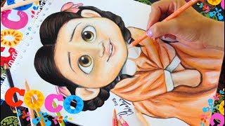 Dibujando A Miguel Calavera Coco Disney Pixar Drawing