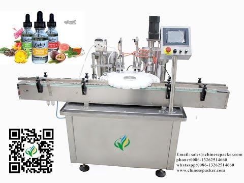 E-juice bottle unscrambler filling plugging capping production line for electronic cigarette liquid