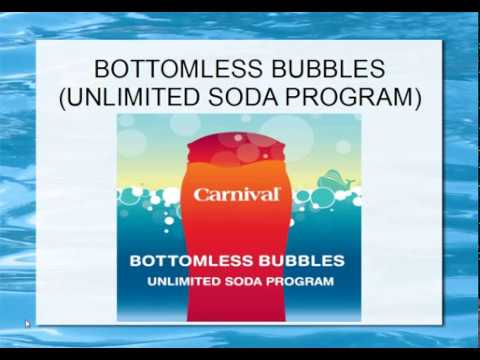Carnival Cruise BOTTOMLESS BUBBLES Program 2017!