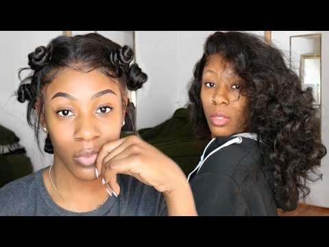 BANTU KNOT TUTORIAL // How To Make Heatless Curls On Body Wave || West Kiss Hair