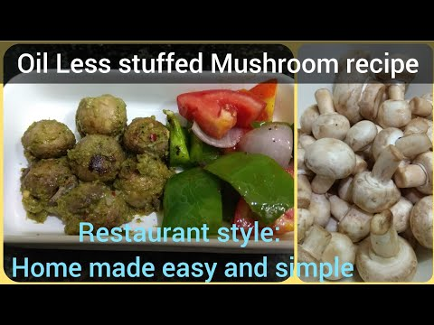 Oil Less recipe: How to make stuffed mushrooms at home