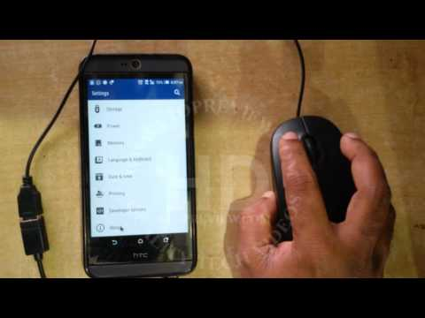 HTC Desire 826 OTG Test with USB Mouse | HTC Mobile Tutorial | 2017 | HTC OTG Support Testing